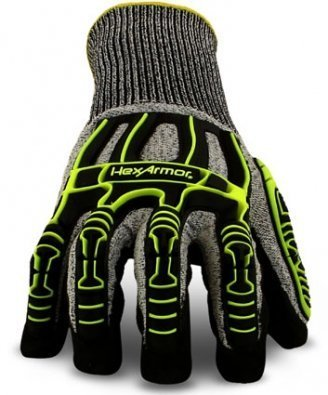 Hexarmor 2090 Rig Lizard Thin Lizzie Knit Dipped Impact Work Safety Gloves 9 Large