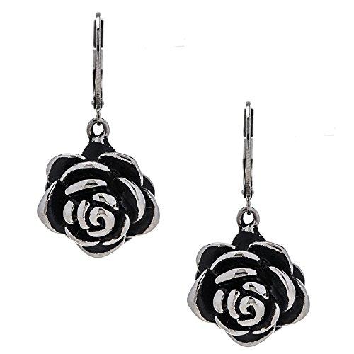 Designer Stainless Steel Rose Earrings for Women and Girls