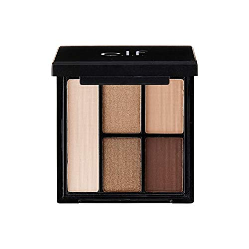 e.l.f. Cosmetics Clay Eyeshadow Palette, Infused with Kaolin Clay for Long Lasting Wear, Necessary Nudes (Best Eyeshadow Palette For Brown Eyes 2019)