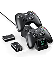 $22 » BOFFO Controller Charger Station for Xbox 360, Dual Charging Dock with 2pcs 1200mAh Rechargeable Battery Packs and a Charging Cable