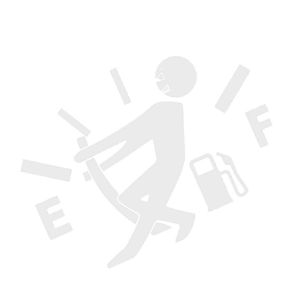 Zerama Dise/ño Divertido del indicador de la Gasolina Imagen engomada del Coche del Tanque de Combustible del Casquillo de la Etiqueta de Coches Decoraci/ón Consejo de Adorno