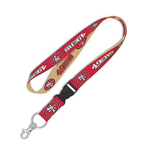 - NFL San Francisco 49ers Lanyard with Detachable Buckle, 1-Inch