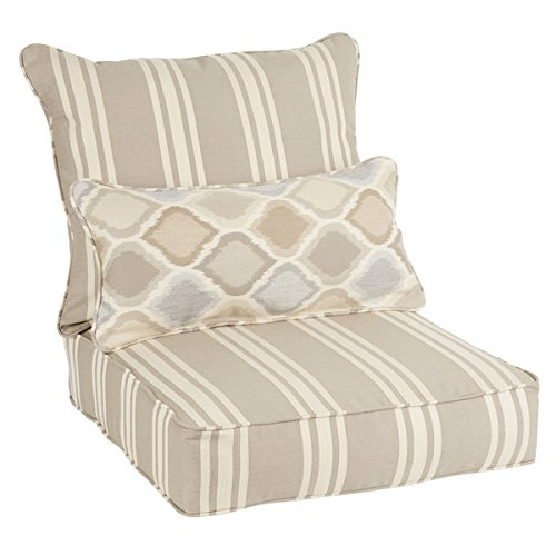 Oakley Sunbrella Striped Indoor/ Outdoor Corded Pillow and Chair Cushion - Shop Online Oakley