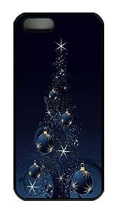 Creative Chrismas Tree Custom iPhone 5s/5 Case Cover Polycarbonate Black