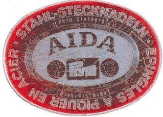 Spilli acciaio temperato AIDA No. 7 EF argento 0, 60 x 32 mm