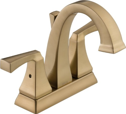 Delta Faucet Dryden 2-Handle Centerset Bathroom Faucet with Diamond Seal Technology and Metal Drain Assembly, Champagne Bronze 2551-CZMPU-DST