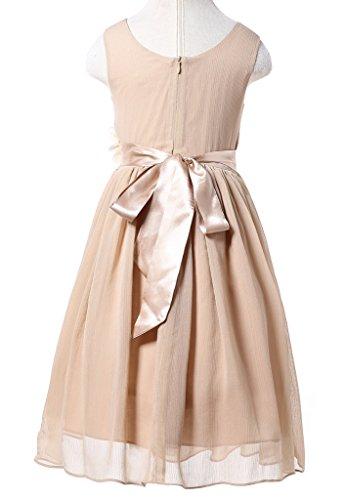 f43f4d14f3 Jual Bow Dream Junior Bridesmaids V-Neckline Chiffon Flower Girl ...