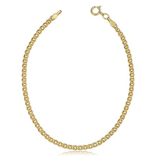 - Kooljewelry 10k Yellow Gold Hollow Inner Link Bracelet (2.3 mm, 7 inch)