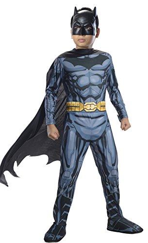 UHC Boy's Dc Comics Batman Jumpsuit w/ Cape & Mask Kids Halloween Costume, M (8-10) -