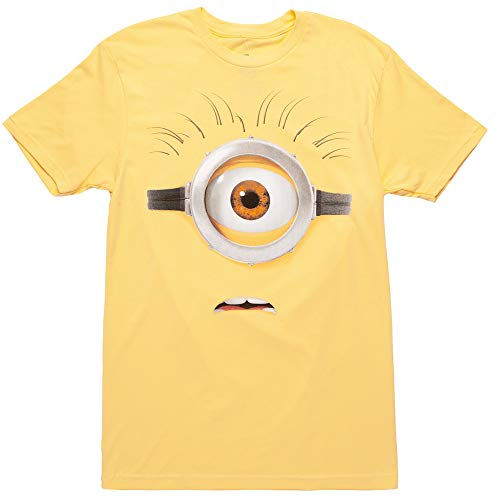 Despicable Me Minions Face Carl That Eye T-Shirt - Yellow (Large)