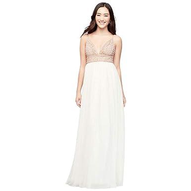 0c49530a03951 Chiffon A-Line Prom Dress with Beaded V-Neck Bodice Style X36831DCA7 ...