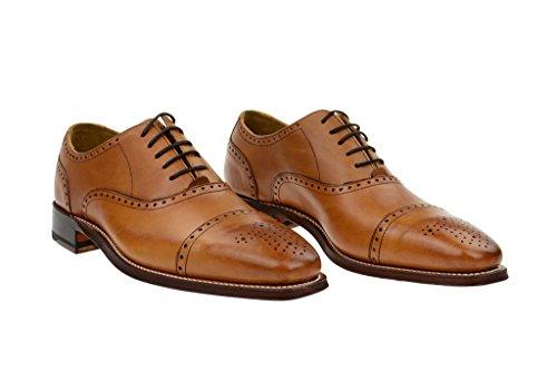 Gordon & BrosGordon & Bros. Luquin rahmengenähte Schuhe in hellbraun mit brauner Sohle 2830 - Scarpe stringate Uomo Marrone (marrone)