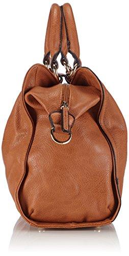Saccess DY1510 - Borsa a Tracolla da Donna, Colore Marrone (Brown), Taglia 45x37x15 cm