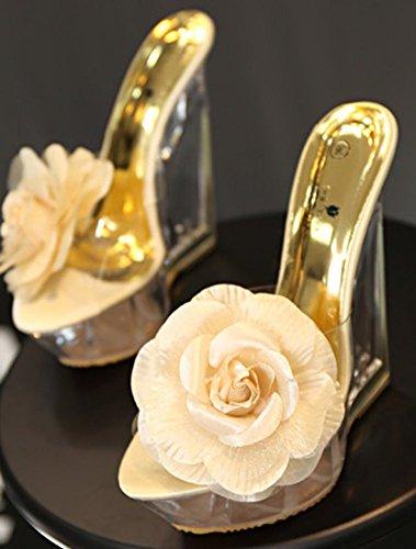 Enfiler Aisun Fleur Décor à Abricot Chaussures Femme Mules Plage Chic rqfEwYr