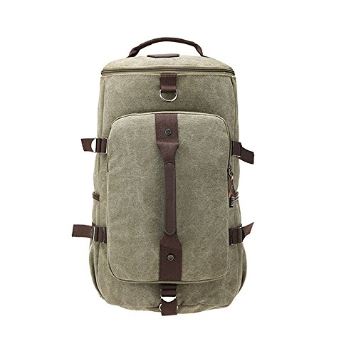Meaeo Canvas Shoulder Bag Outdoor Bergsteigen Tasche Leisure Travel Rucksack Große Kapazität Paket Tragen Und Atmungsaktiv Rucksack, Grün green