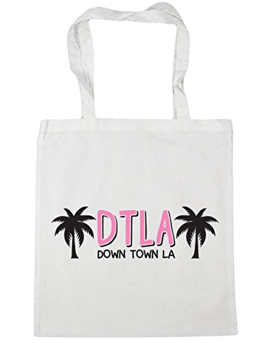 HippoWarehouse DTLA (de la ciudad la) bolso de compras bolsa de gimnasio playa 42cm x38cm, 10litros blanco