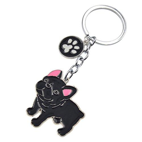 Cute Pet Dog Keychain Alloy Enamel Corgi Husky Poodle Keyring Love Tag Charm 1Pc -