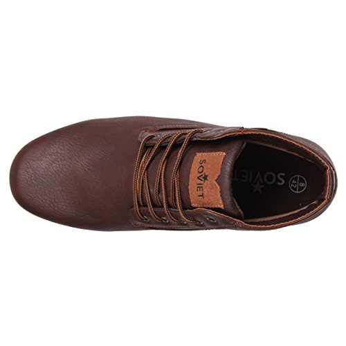 Soviet Mens Remix Desert Boots Ancle High Shoes Scarpe Stringate Marrone