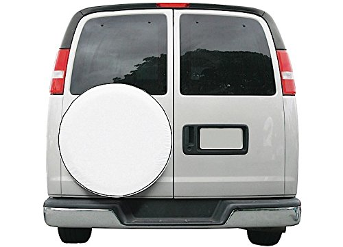 Custom Boat Trailers - Classic Accessories 75100 OverDrive Custom Fit Spare Tire Cover, White, 21