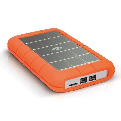 LaCie Rugged Triple 2TB USB 3.0 / Firewire 800 Portable Hard Drive + 1mo Adobe CC All Apps (LAC9000448) -