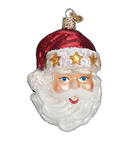 Santa Glass Ornament Hat (Old World Christmas Starry Hat Santa Glass Ornament)