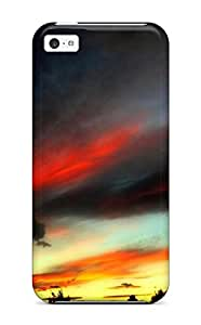 For Iphone 5c Premium Tpu Case Cover Painted Sky Sunset Horizon Nature Other Protective Case