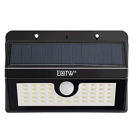 Lamparas Solar,45 LED Luz Solar con Sensor movimiento, Solar Luces de Jardín,