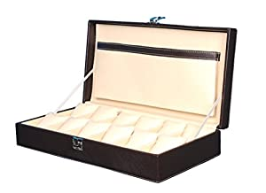 Hard Craft Watch Box Case PU Leather - Brown