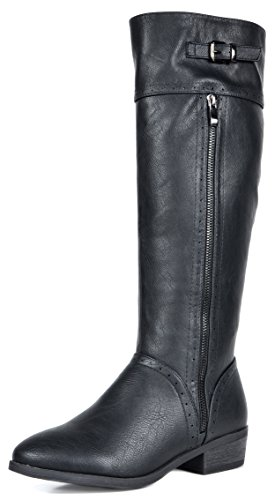 DREAM PAIRS Women's Koson Knee High Winter Riding Boots