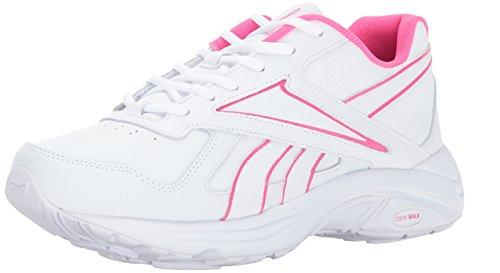 Reebok Women's Walk Ultra V DMX Max Track Shoe, Pr-White/Solar Pink, 8 M US by Reebok