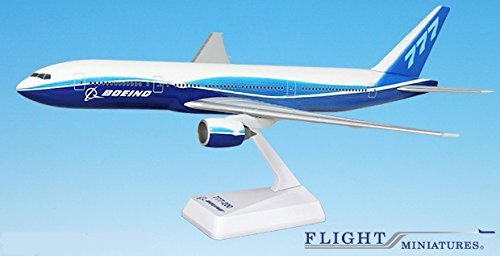 Boeing Demo (04-Cur) 777-200 Airplane Miniature Model Plastic Snap Fit 1:200 Part# ABO-77720H-029 (200 Snap Fit Model)