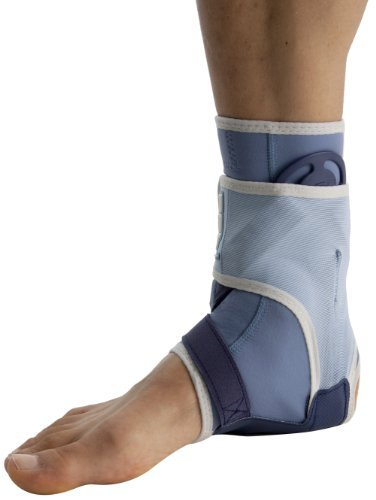 PSB Sports Right Ankle Brace - Blue/White, Small by PSB