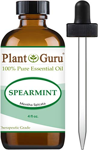 Spearmint Essential Oil 4 oz 100% Pure Undiluted Therapeutic Grade for Aromatherapy Diffuser, Promotes Digestion, Great for Focus and Concentration