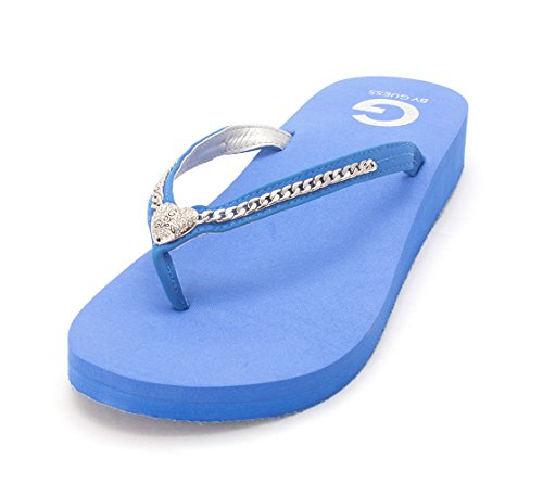 G Blue Casual Adored by Toe Open Womens GUESS Multi Rubber r8gfr