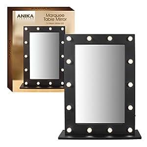 Espejo de tocador al estilo hollywood con luces led for Espejo 120 x 50