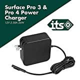 ITS TM Charger for Microsoft Surface 36W 12V 2.85A Power Supply for Surface Book, Surface Laptop, MS Surface Pro, Pro 5, Pro 4, and Pro 3 (Surface 3 & 4), Windows