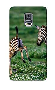 Ellent Galaxy S5 Case Tpu Cover Back Skin Protector Zebra Baby Foal For Lovers