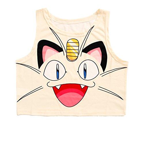 Women Bustier Crop Top Skinny T-Shirt Sports Dance Tops Vest Tank (Beige)