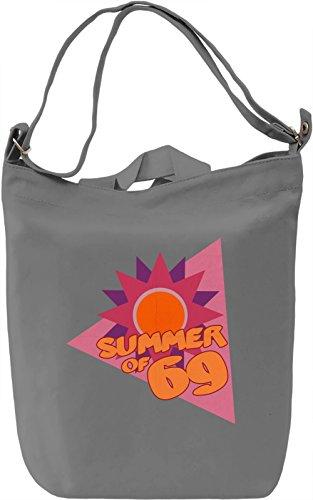 Summer of 69 Borsa Giornaliera Canvas Canvas Day Bag| 100% Premium Cotton Canvas| DTG Printing|