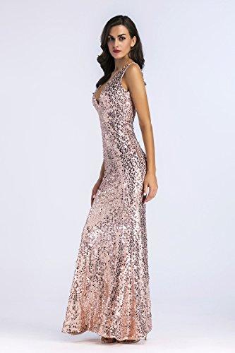 Mujer A Noche Vestido Vestido de Lentejuelas la de de FOLOBE Fiesta tW1qBvn