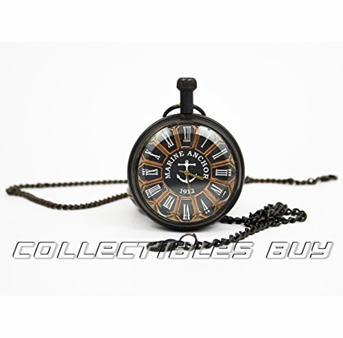 Collectibles Buy Royal Roman Numerals Clock Mini Unique Pocket Anchor Watch 1912 Marine Gifts Item (Clock Marines Collectible)