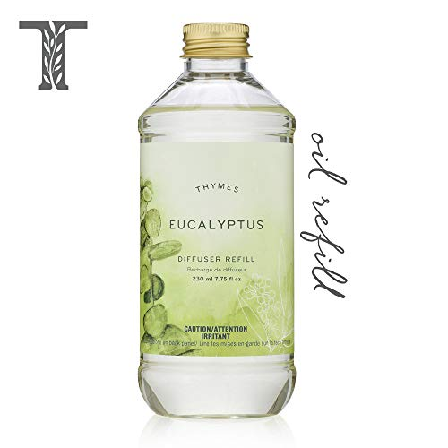 Thymes - Eucalyptus Aromatic Diffuser Oil Refill - Large Bottle with Relaxing Eucalyptus Scent - 7.75 oz