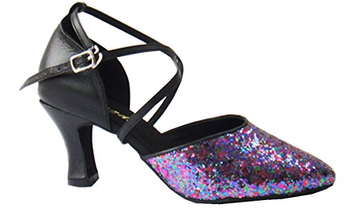 Purple CM1015 Womens Latin Shoes Wedding Sequins TDA Dance Modern Samba Rumba Ux1qgAvnw