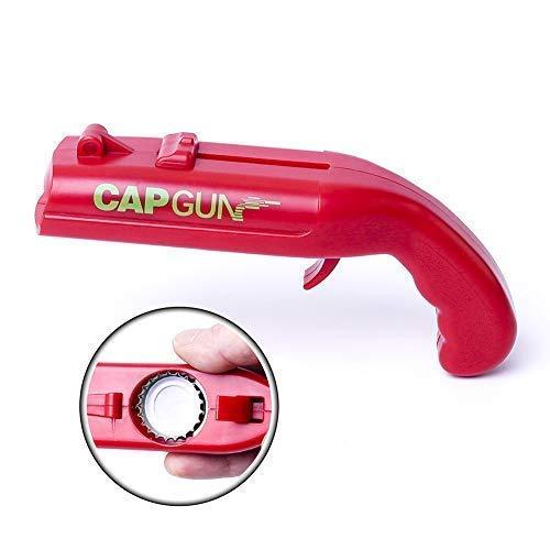 Cap Gun Launcher Shooter Beer Bottle Opener, Beer Drink Openers - Shoots Over 5 Meters by Risepenny (Red) ()