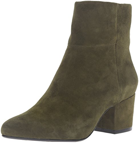 Steve Madden Steven by Women's Wes Ankle Bootie Olive Suede