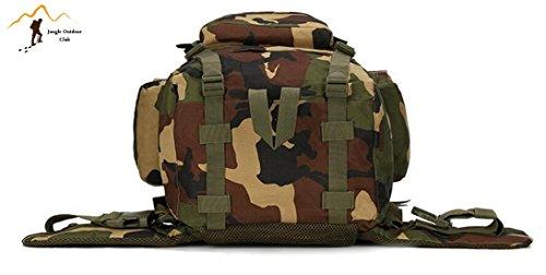 Jungle laptop 65L grande capacità oversize molle pacchetto borsa a tracolla tattico tasche Wild borsa zaino Zaino per trekking, campeggio, arrampicata copertura impermeabile mimetico zaino, Desert Dig