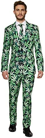 Suitmeister Halloween Suits for Men in Different Prints and Colors – Adult Costumes Include Jacket Pants & Tie 1