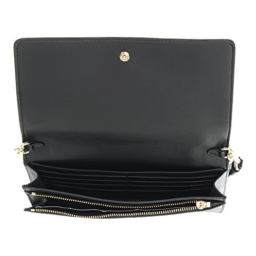 Pebbled Womens Leather Black Over Li Crossbody Fold COACH Polished qvfHFxH7