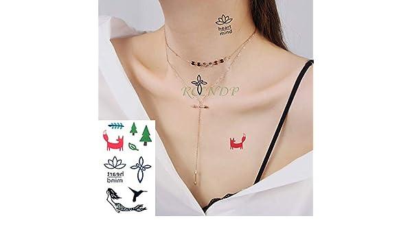 ljmljm 5 Unids Etiqueta Engomada del Tatuaje Impermeable Corona ...