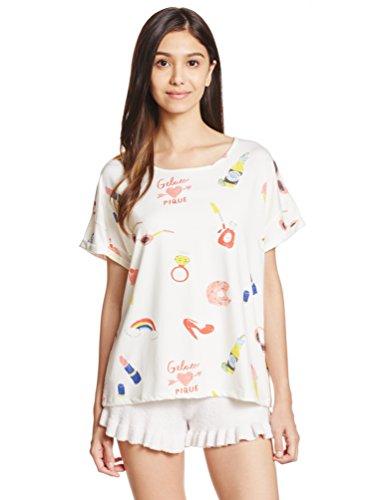 (ジェラートピケ)gelatopiqueビックモチーフ柄TシャツPWCT1622221WHTF
